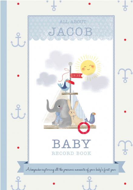 Milly & Flynn - Personalised Baby Boy Record Book